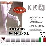 Calze Autoreggenti 1 PAIO Post-Parto e Post-Operatorie Antitrombosi a Compressione Graduata KK6 - Made in Italy (XL - Standard)