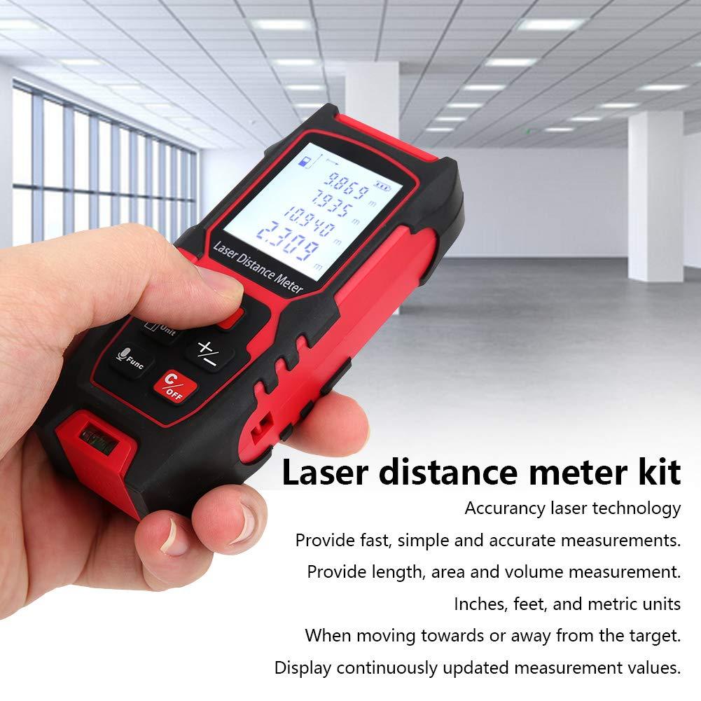 with Compact Size Floor Infrared Distance Meter for Interior Decoration Portable Altimeter Handheld Laser High‑Accurancy Indoor Measurement 80Meter Laser Measure Renovation