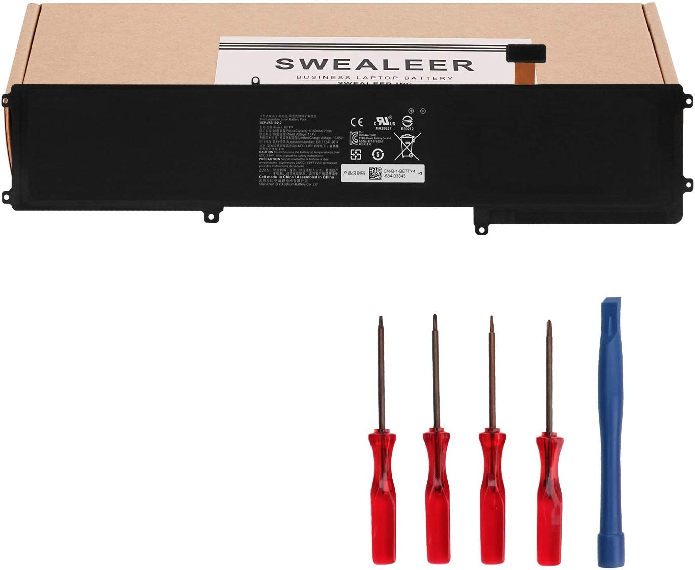 SWEALEER BETTY4 Laptop Battery Compatible with Razer Blade 2016 14
