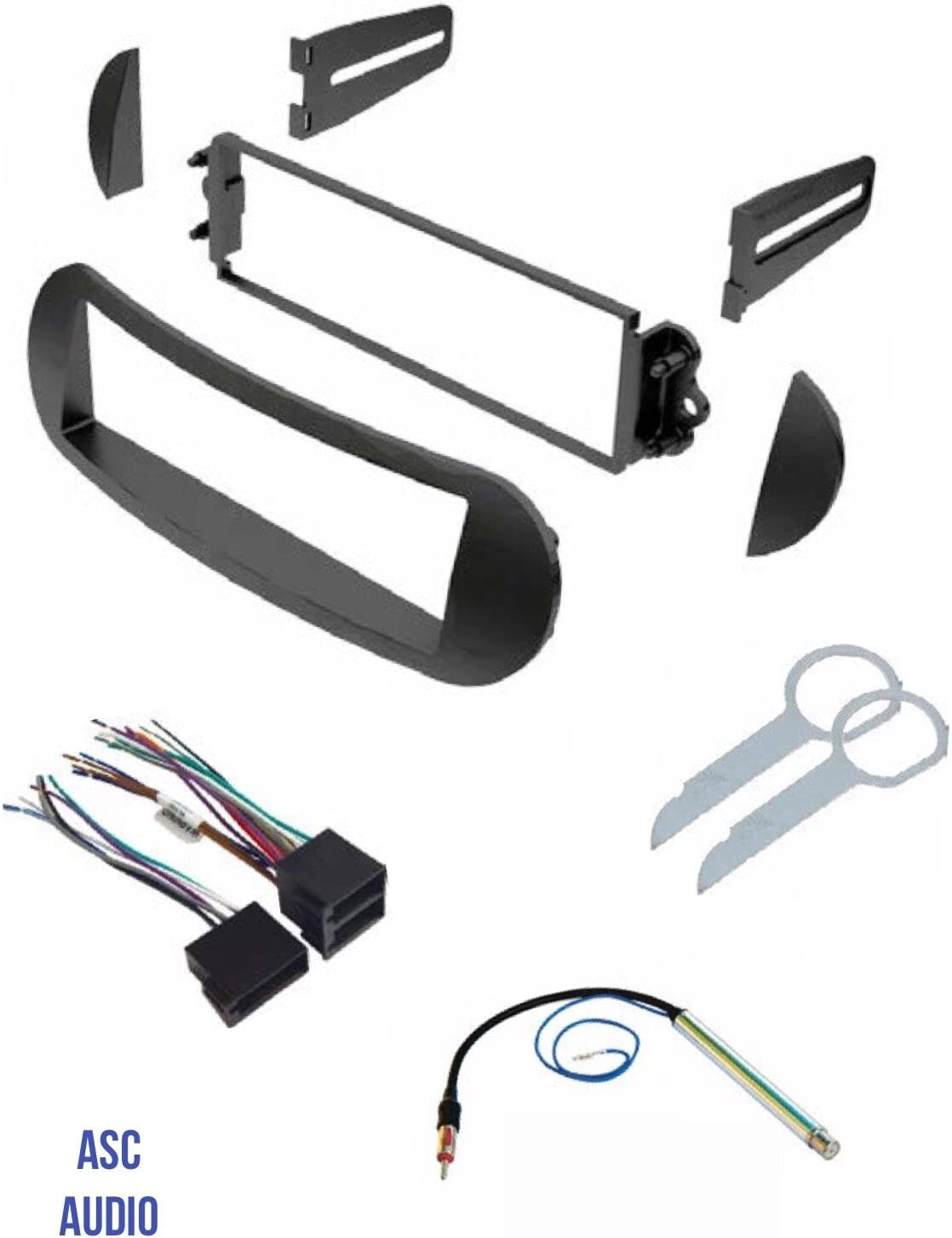 Amazon.com: ASC Car Stereo Dash Kit, Wire Harness, Antenna Adapter, and  Radio Tool for Installing a Single Din Radio for select VW Volkswagen Beetle  Vehicles - Compatible Vehicles Listed Below: Car ElectronicsAmazon.com