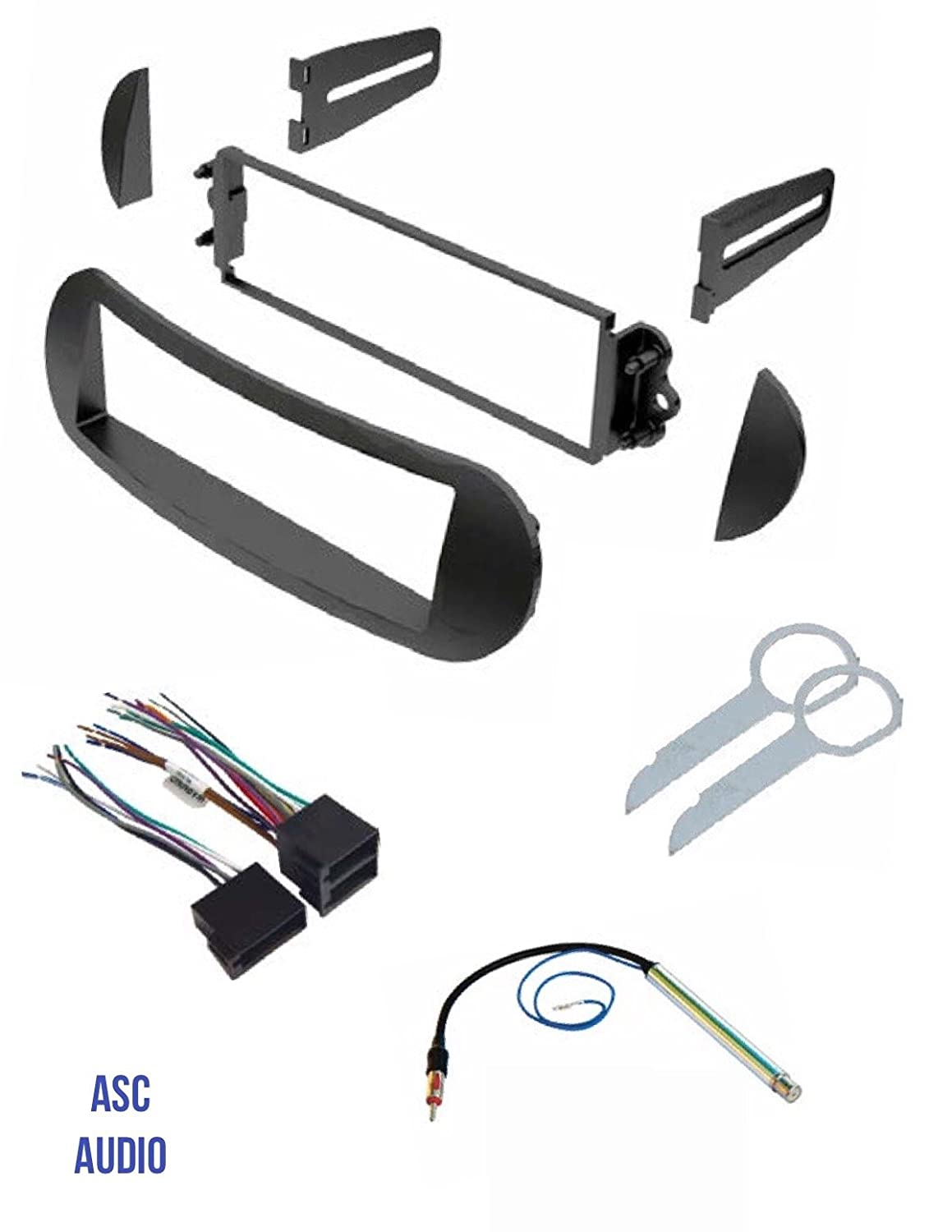 Asc Car Stereo Dash Kit Wire Harness Antenna Adapter 2002 Beetle Door Wiring Diagram And Radio Tool For Installing A Single Din Select Vw Volkswagen