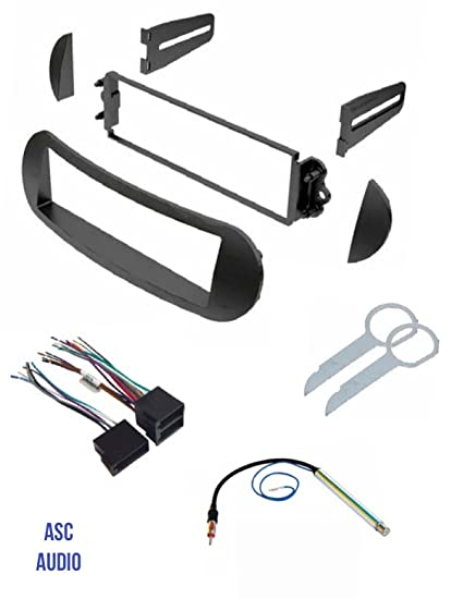 ASC Car Stereo Dash Kit, Wire Harness, Antenna Adapter, and Radio Tool Radio Wire Harness Kit on