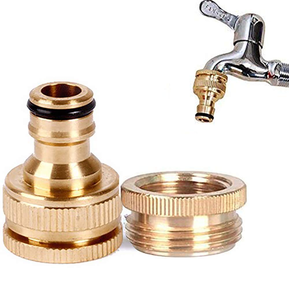 """1//2/"""" Copper Solid Brass Connector Set Garden Kit Water Hose Lock Quick Connect"""