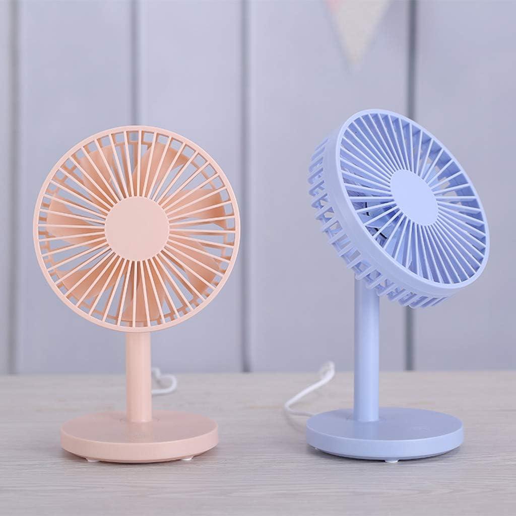 KIMSAI Desktop USB Fan Mini Fan Office Home USB Charging Fan Portable Small Fan Cooling Fan PC Desktop Fan Silent Fan 3 Adjustable Speed Small Table Fan,Pink