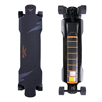 Electric Skateboard F, Single-dual Moteur commutable, télécommande, électrique, Longboard, moteurs de 2400 W 25 km Portée, vitesse maximale 40 km/H