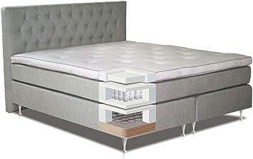 Cama con somier cama 120 x 200 cm Luz Gris: Amazon.es ...