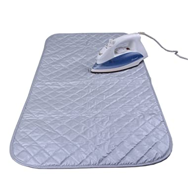 Ironing Pad Mat Portable Travel Ironing Blanket Cotton Thickened Heat Resistant Ironing Water Absorbent Pad Cover for Washer Dryer Table Top Countertop Heat or Steam Iron HTY01-US