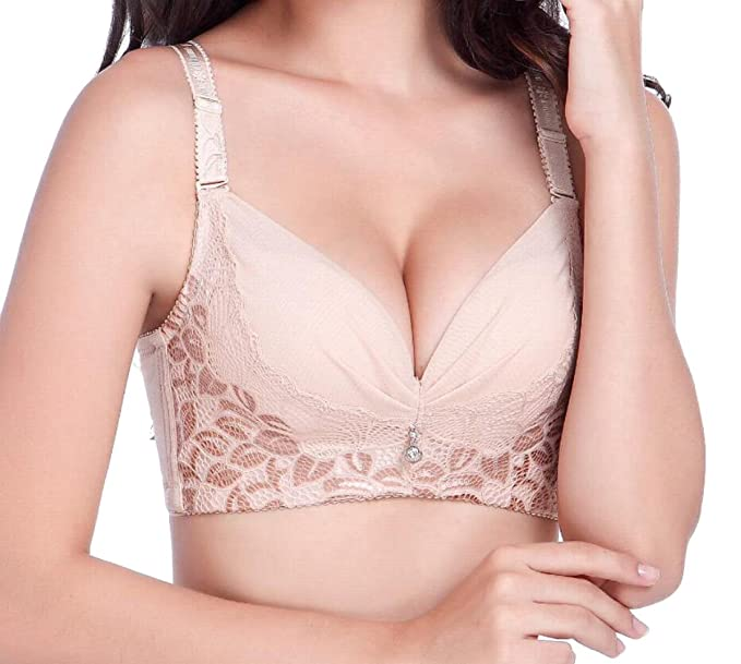 902be52d28 WSPLYSPJY Women s Soft Seamless Push up Gather Bra Lingerie at ...