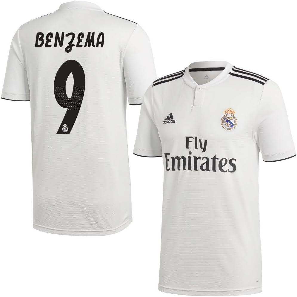 adidas Real Madrid Home Benzema 9 Camiseta 2018/2019 ...