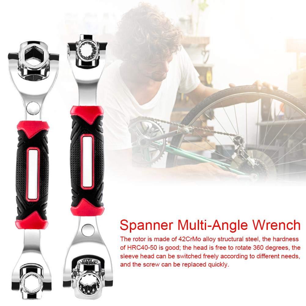 Multifunktionsschl/üssel Magic Wrench Universal Einstellbare Auto-Ratsche Funktioniert als Umschaltknarre Steckschl/üsselkombination Crescent Nut Gear-Wrench-Set f/ür Handwerker und Installateure