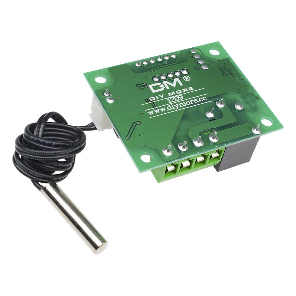 Blue LED+Acrylic Case 110//°C avec sonde /étanche W1209/LED Digital Thermostat contr/ôleur carte module de commutateur de commande de temp/érature DC 12/V -50 1