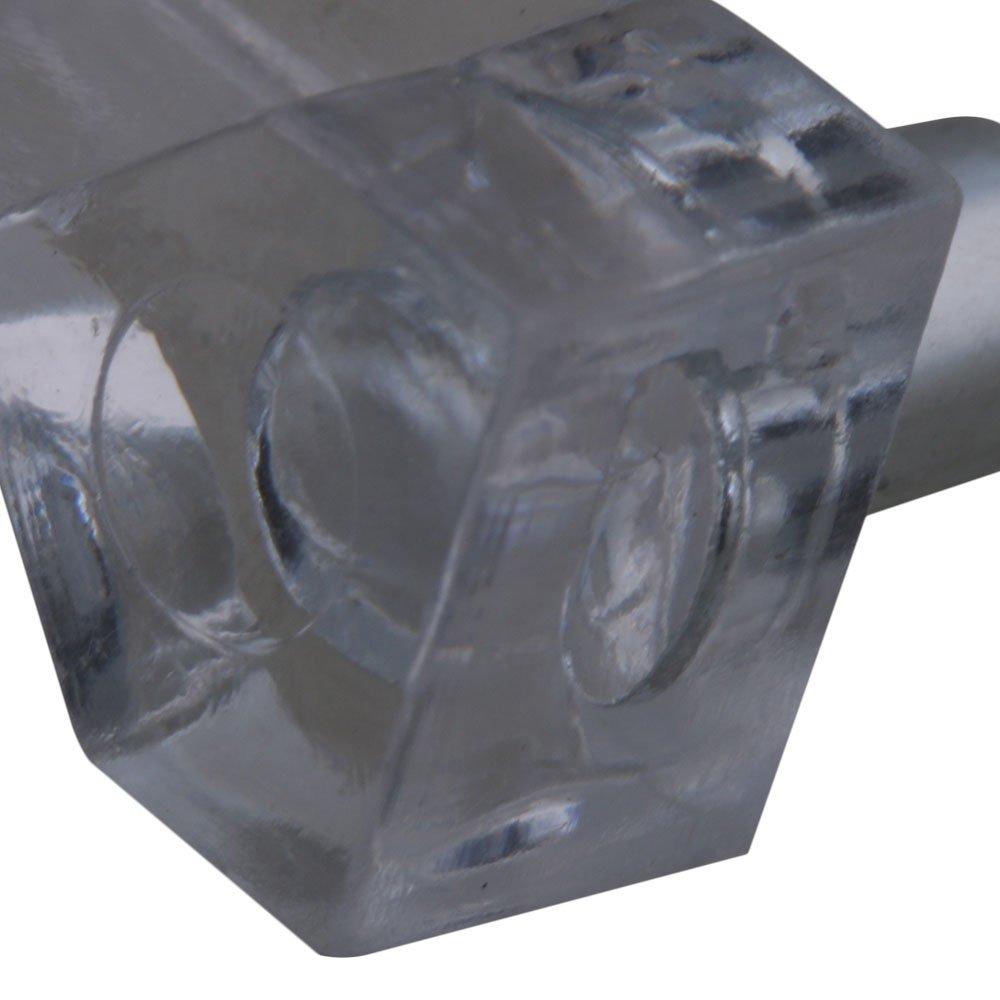Yibuy 500Pcs Transparent Plastic Furniture Cupboard Shelf Support 5mm Pins