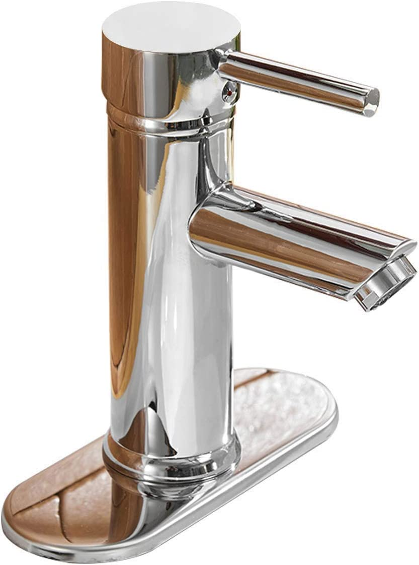 Bathlavish Bathroom Sink Faucet Single Handle Waterfall Chrome Faucet Aerator Bath Vanity Lavatory Faucets Basin Mixer Tap One Hole Lever Water Stream Filter Commercial Supply Lines Lead-Free