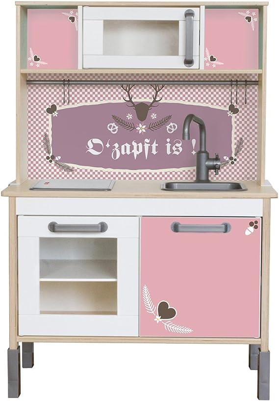 Grafix – Pegatina para tus IKEA Niños Cocina Duktig (Color Rosa ...