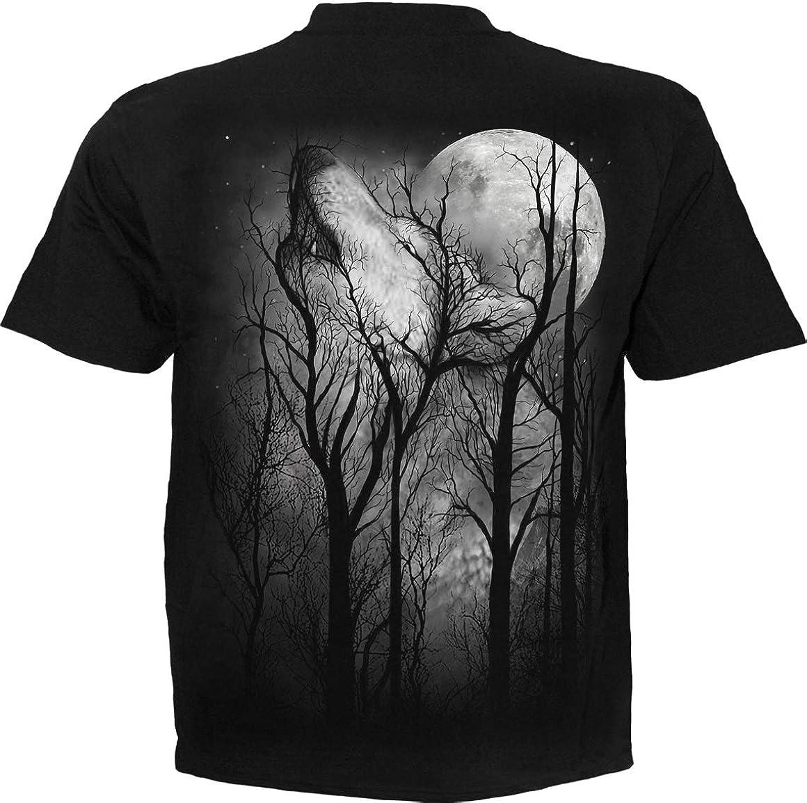Spiral Forest Wolf Camiseta Negro M