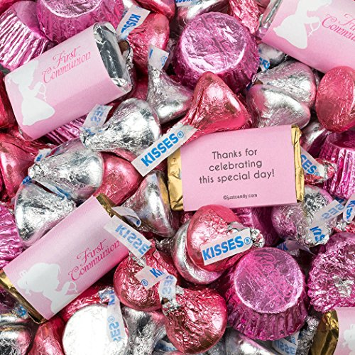 (Girl First Communion Hershey's Chocolate 3lb - Pink Candy)