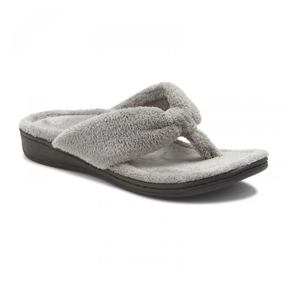Vionic with Orthaheel Indulge Gracie Women's Slipper B072YVRLTP 7 B(M) US|Light Grey