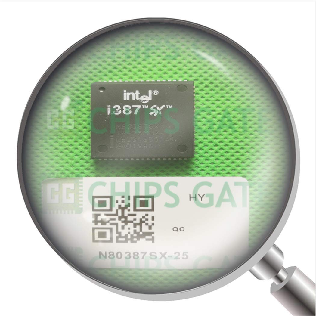 3Pcs Arithmetic Processor Ic Plcc-68 N80387SX-25 N80387Sx25