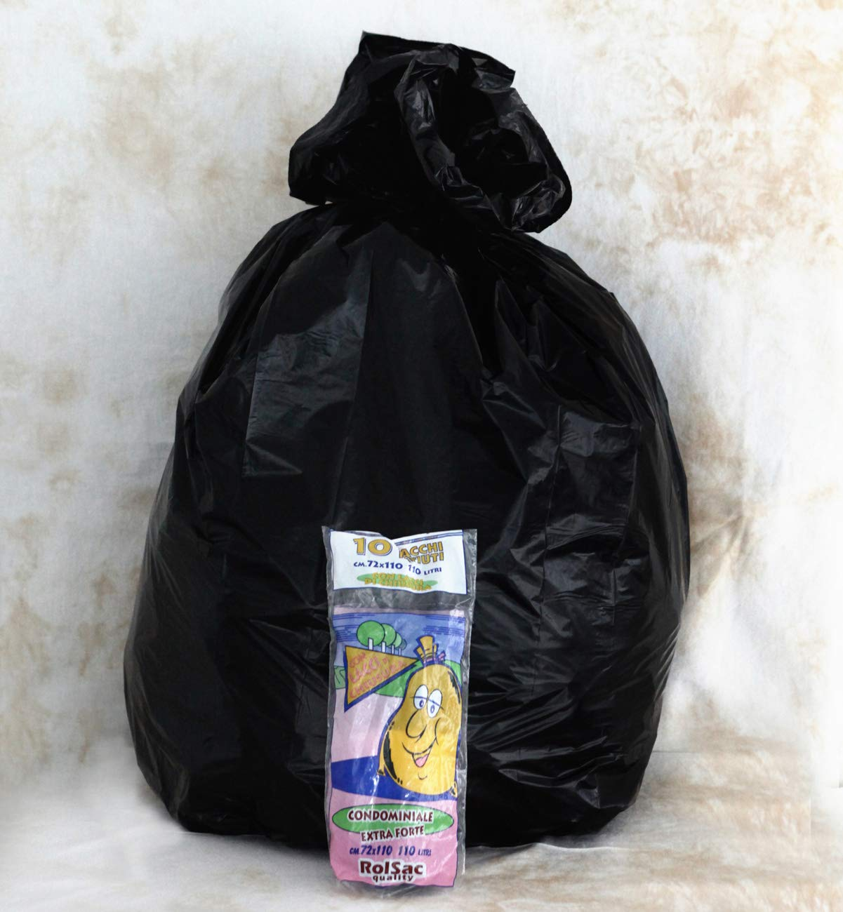 72 x 110 cm Black Cagliplast Q.Ty Roll with Outer Bag Rolsac