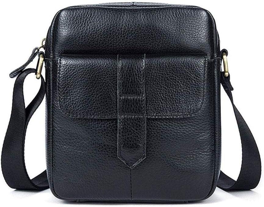 WSJTT Briefcase Bag Business Bag Hand Held And Removable Shoulder Strap Water Resistant Durable Work Travel Portable Laptop Shoulder Messenger Bag Vertical Zipper Leather Mens Bag Casual Top Layer Co