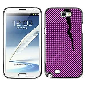 Paccase / SLIM PC / Aliminium Casa Carcasa Funda Case Cover - Lines Pattern Black Purple Pink - Samsung Note 2 N7100