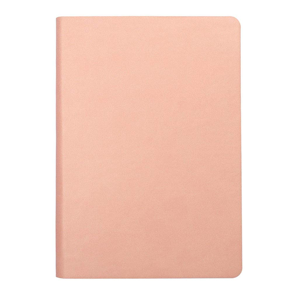 Notebook Journal-Leather Cover,Pink 5.7 x 8.3 inch Thick Plain Paper (5)