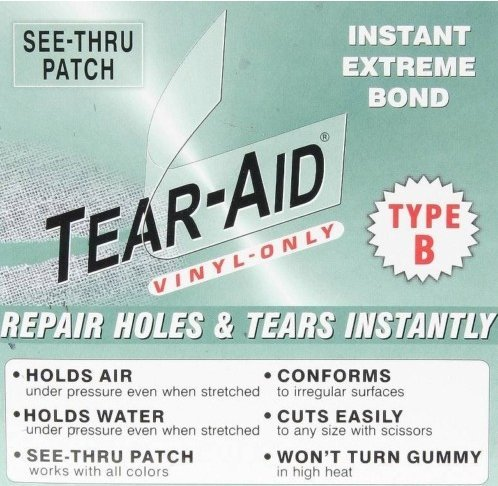 REPAIR PATCH: Zodiac Inflatable Boat Raft Dinghy 6x12 Tear Aid B by Tear Repair (Inflatable Zodiac)