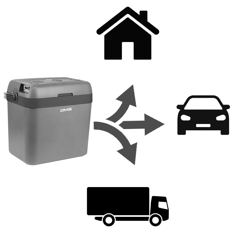 DMS/® K/ühlbox K/ühltasche Gefriertasche 33L Getr/änkebox W/ärmebox 12-24V LKW und PKW Zum K/ühlen und Warmhalten Geeignet Grau-Orange