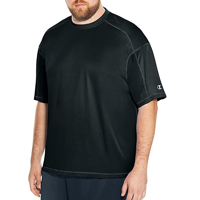 4c5a68766 Champion Big Tall Men`s Core Basic Performance Tee, CH405, 2XLT, Black