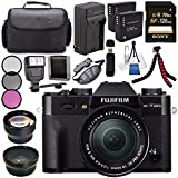 Fujifilm X-T20 Mirrorless Digital Camera 16-50mm Lens (Black) 16543016 + NP-W126 Lithium Ion Battery + External Rapid Charger + Sony 128GB SDXC Card + Carrying Case + Tripod + Flash Bundle For Sale