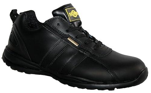 Ottawa Chaussures de sécurité pour femme Bout en acier Avec lacets Légères  - Noir - Noir