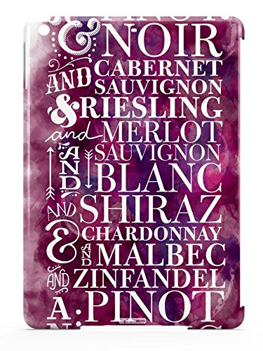 Inspired Cases 3D Textured Wine Drinker Cabernet Pinot Noir Zinfandel Red & White Pattern Case for iPad Air