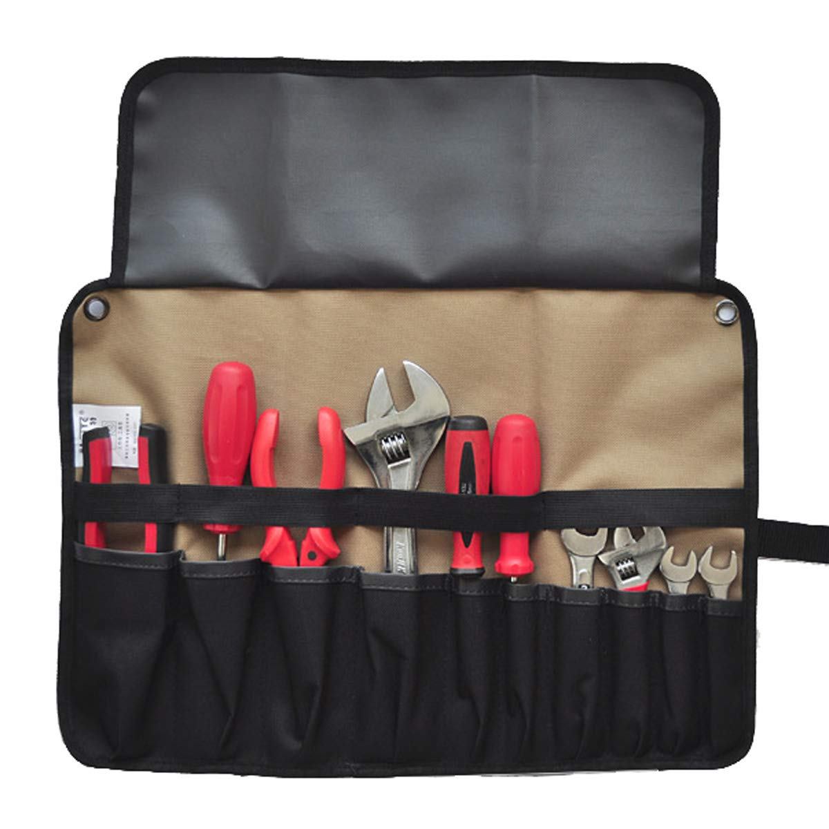 ThinkTop Chef Knife Roll Bag Case 10 Slots,Portable Kitchen Tool Bag Case Easily Carried Knife Pouch Box Organizer Storage