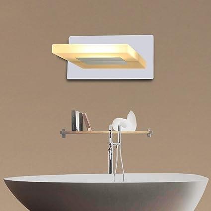 Amazon.com: PLLP Home Bathroom Mirror Headlights Led Stainless Steel ...