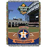 Northwest NOR-1MLB051001013RET 48 x 60 in. Houston Astros MLB, Minutemaid Park Woven Tapestry Throw