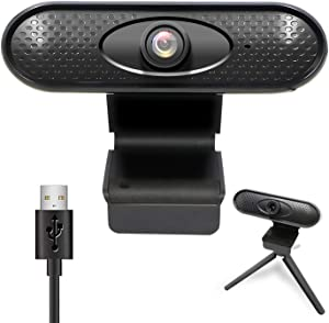 1080P Webcam with Microphone - USB Desktop Laptop Computer 30fps Web Camera with Auto Focus, Plug and Play, for Windows Mac OS, for Video Streaming, Conference, Gaming, Online Classes