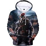 VOSTE Rainbow Hoodie 3D Printed Hooded Pullover Sweatshirt