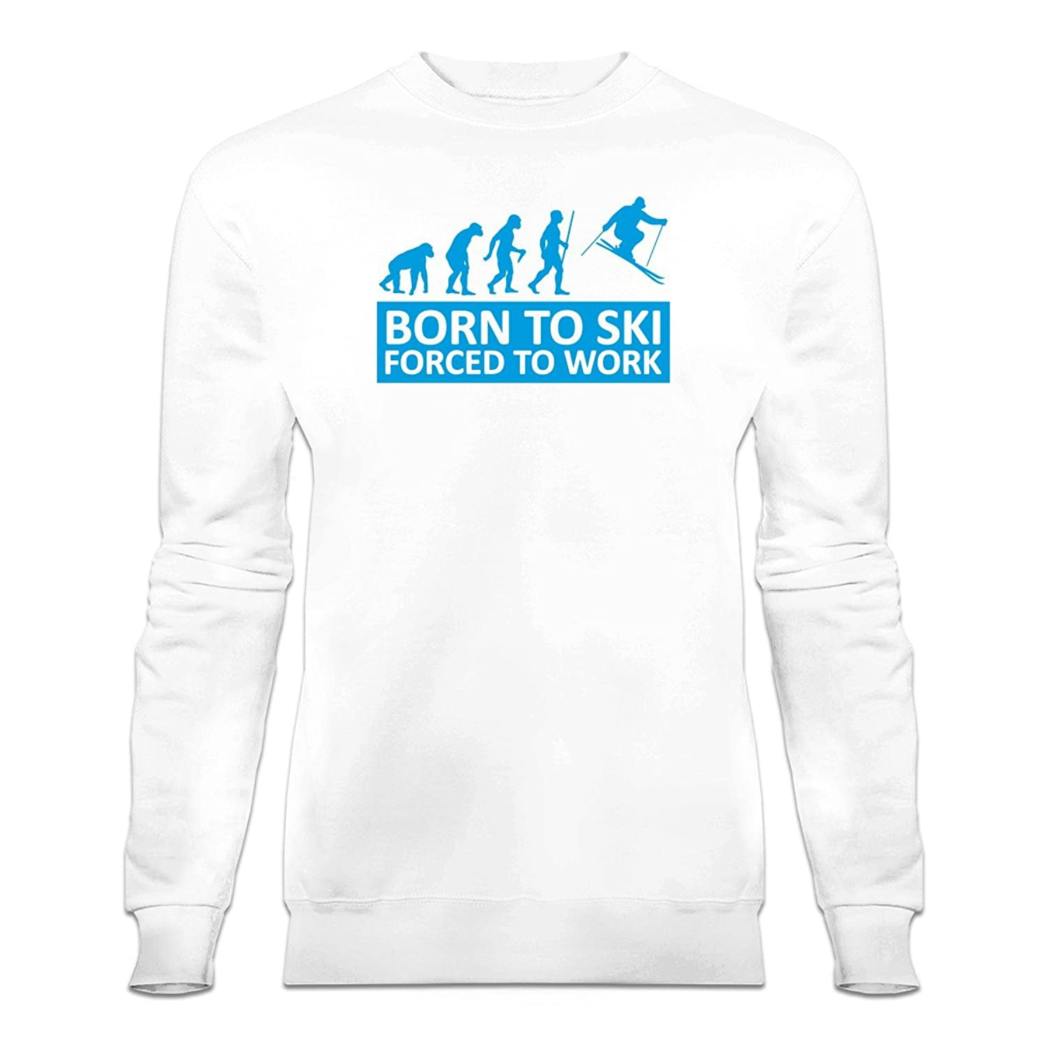 Born To Ski Forced To Work Sweatshirt by Shirtcity