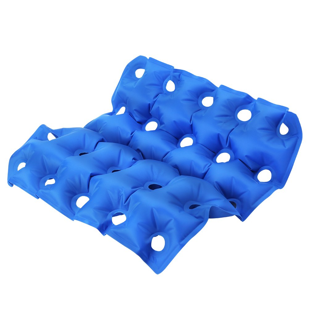 Inflatable Seat Cushion, Air Chair Cushions 16.5 16.9inch PVC Square Seat Breathable and Comfortable for Office Chair Car Wheelchair and Home