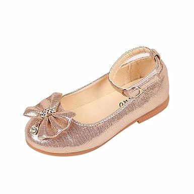 d7201567c2cf Voberry Kids Baby Girl Fashion Princess Soild Bowknot Dance Toddler Quality Shoes  Children Girls Latest Design Princess Party Shoes: Amazon.co.uk: Clothing
