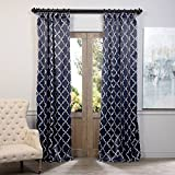 """Best Home Back Tab Curtains - BOCH-KC40F-120 Blackout Curtain, Seville Navy, 50"""" x 120"""" Review"""