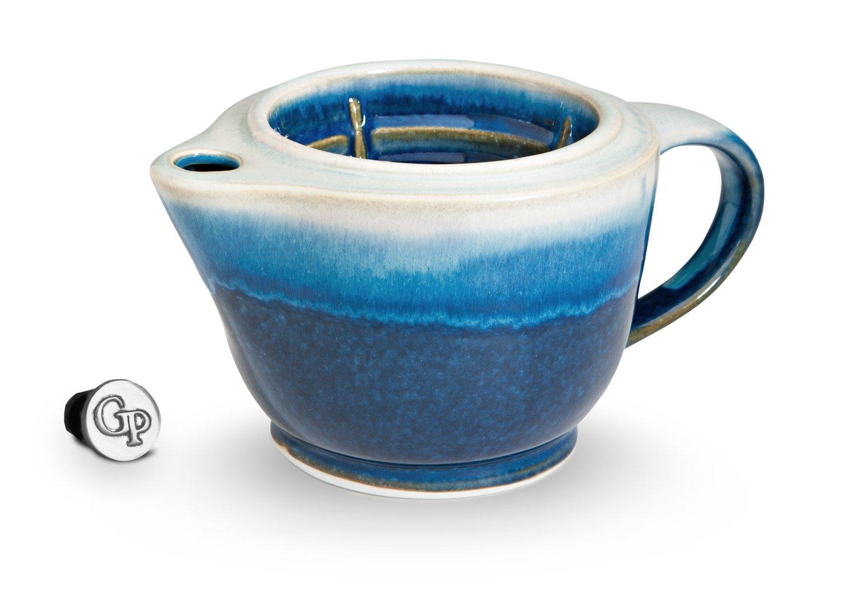 Georgetown Pottery G20 Shaving Scuttle Mug - Cobalt & Purple