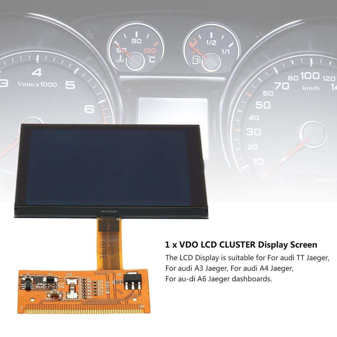 Formulaone TT Pantalla LCD para VW Audi TT Jaeger Nueva VDO FIS Cluster Pantalla LCD para Audi A3 A4 A6 Super Calidad: Amazon.es: Coche y moto