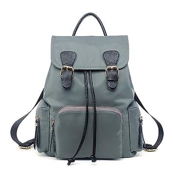 Mochila Paño Oxford mochila bolso mujer bolsos de viaje bolsos de tela Mochilas tipo casual Bolsas De Escuela Azul-gris Bolsos Mochila: Amazon.es: Equipaje