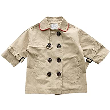 fa15c7d01286 Amazon.com  LJYH Baby Girls Spring Autumn Trench Coat Double ...