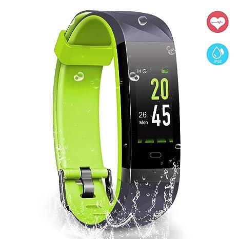 YoYoFit Orologio Fitness Activity Tracker, IP68 Impermeabile GPS Contapassi  da Polso Pedometro Cardiofrequenzimetro Pedometro Compatibile
