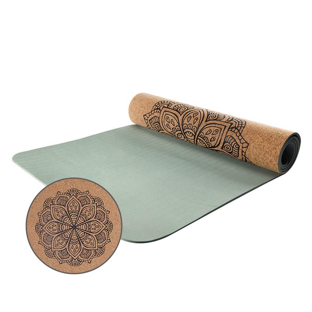 LRXG Yogamatte, TPE Slip Cork Yoga-Matte verlängert und verbreitert für Sport und Fitness Portabilität