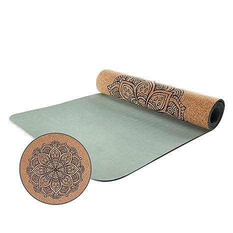 LRXG Yoga Mat, TPE Estera de Yoga Antideslizante Extensión ...