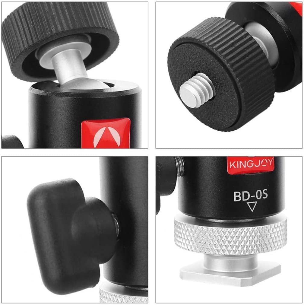 Almencla Mini Ball Head for Tripod and DSLR Cameras 360 Panoramic Low Profile Ball Head with 1//4 Quick Release Plate