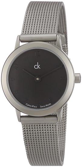 Calvin Klein Minimal K313110 - Reloj de mujer de cuarzo, correa de acero inoxidable color